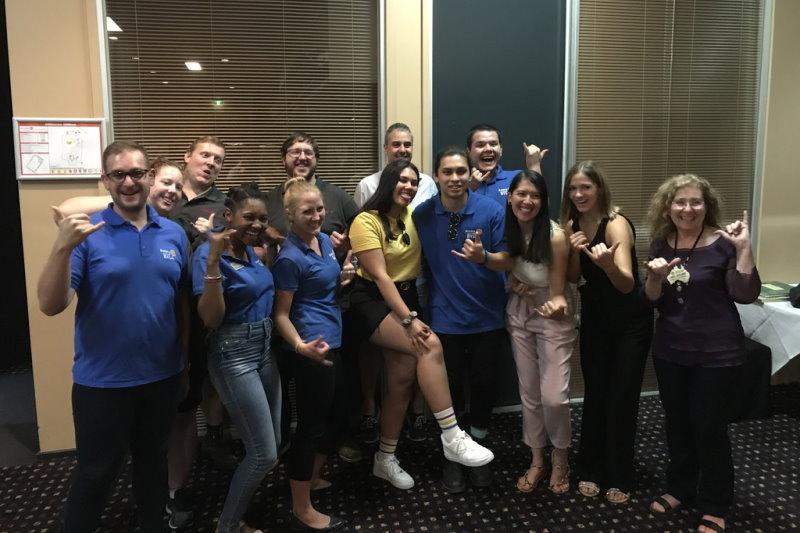 RYLArians visiting a Rotary Club